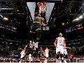 All Angles of LeBron James' Opening Night Dunks
