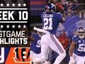 Giants vs. Bengals (Week 10) Game Highlights