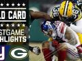 Giants vs. Packers - NFL Wild Card Game Highlights