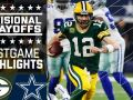 Packers vs. Cowboys - NFL Divisional Game Highlights