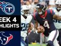 Titans vs. Texans - NFL Week 4 Game Highlights