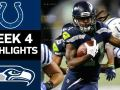 Colts vs. Seahawks - NFL Week 4 Game Highlights
