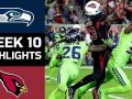 Seahawks vs. Cardinals -  NFL Week 10 Game Highlights