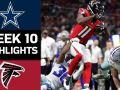 Cowboys vs. Falcons - NFL Week 10 Game Highlights