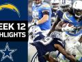 Chargers vs. Cowboys - NFL Week 12 Game Highlights