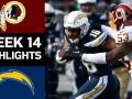 Redskins vs. Chargers - NFL Week 14 Game Highlights