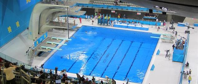 The Aquatic Centre at the 2012 London Olympics for Diving.