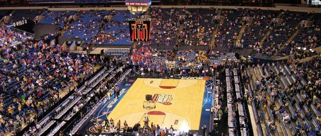 Court before the NCAA Men's Division I Basketball Tournament National Semifinals.