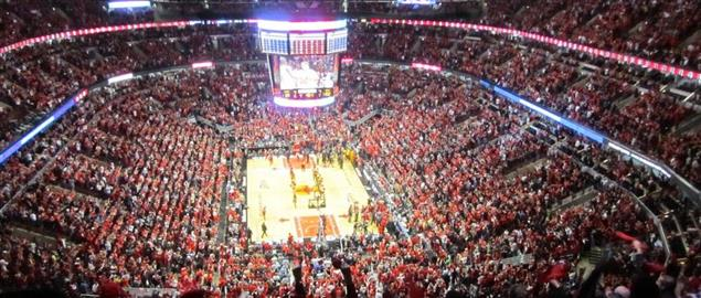Ariel Shot of the Bulls vs Pacers Round 1