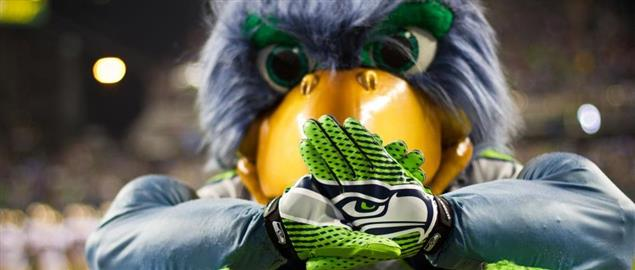 Blitz Seattle Seahawks Mascot